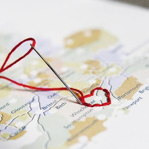 Personalised Stitch Your Journey Map Print