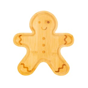Personalised Gingerbread Bamboo Plate Set