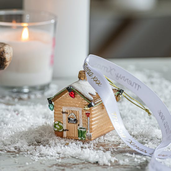 Personalised Garden Shed Bauble