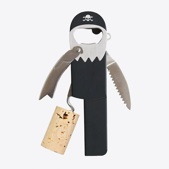 The Pirate Bottle Opener And Corkscrew
