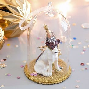 Teddy Bear In Snow Globe Style Christmas Decoration