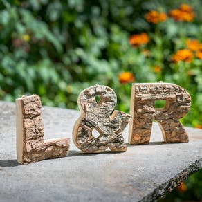 Real Wooden Bark Letters A Z