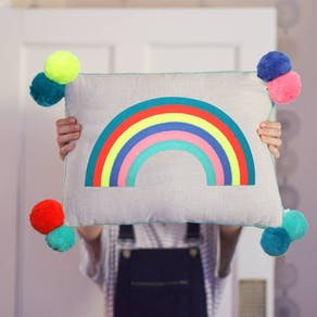 Rainbow Rectangular Cushion