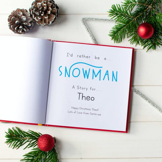 I'd Rather Be A Snowman Personalised Gift Book
