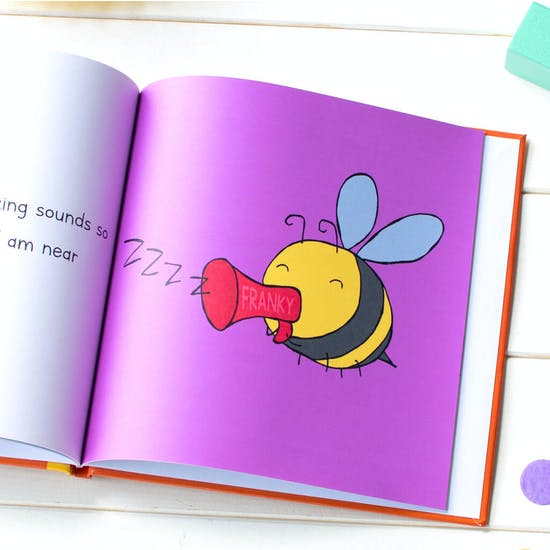 I'd Rather Be A Bee Personalised Gift Book