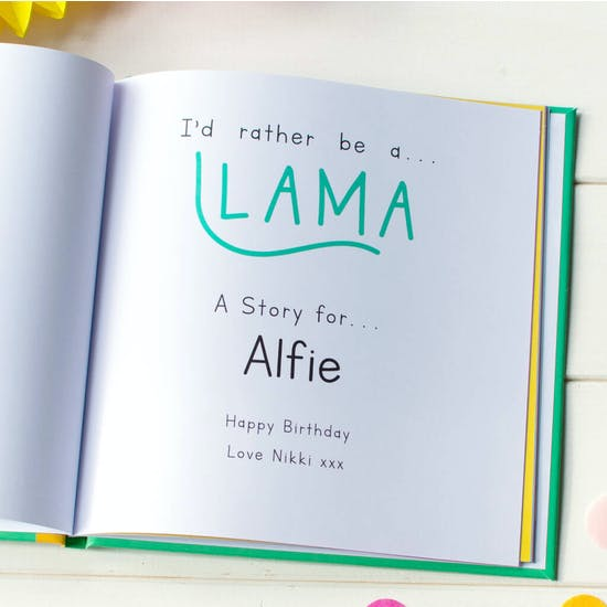 I'd Rather Be A Llama Personalised Gift Book