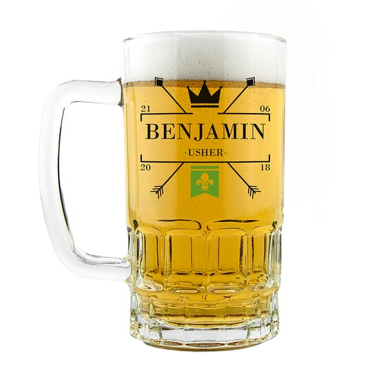 Royal Emblem Personalised Wedding Tankard