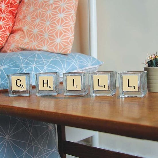 Licensed Scrabble Candle Set