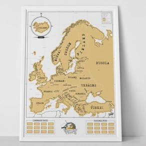 Luckies Scratch Map X Edition