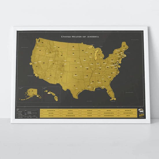 Scratch Map® USA Deluxe Poster