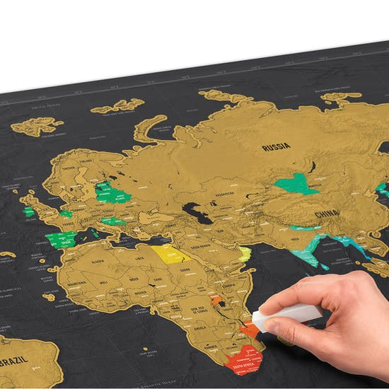 Scratch Map® XL Deluxe World Map Poster