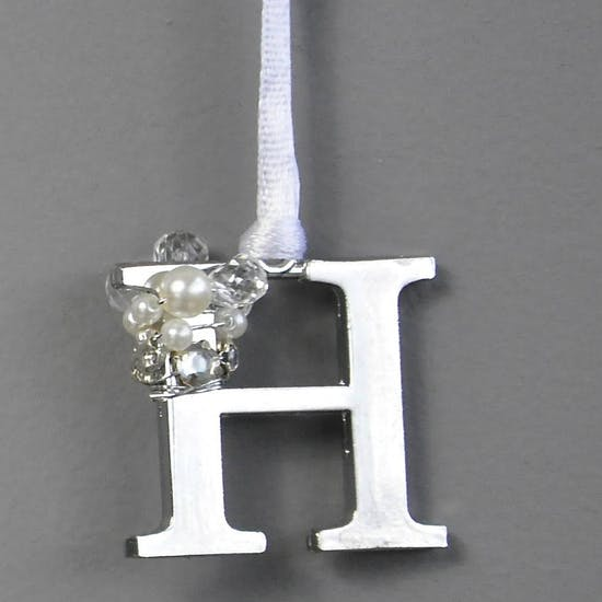 Silver And Pearl Hanging Tag/Decoration