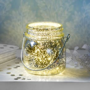 Silver Firefly Effect Tea Light Holder