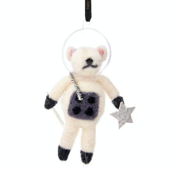 Outer Space Mouse Felt Hanging Decoration