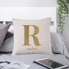 Sparkle Big Letter Cushion Cover