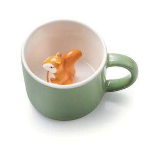 Surprise Hidden Squirrel Ceramic Mug