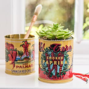 A Set Of Retro Chilli Tins