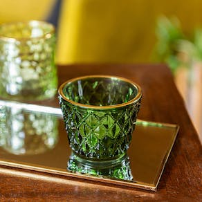 Set Of Mixed Glass Votive Holders
