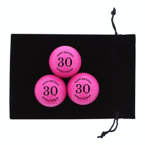 Set Of Pink Birthday Personalised Golf Balls
