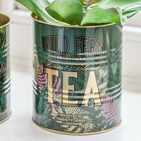 Set Of Two Retro Tea Tins