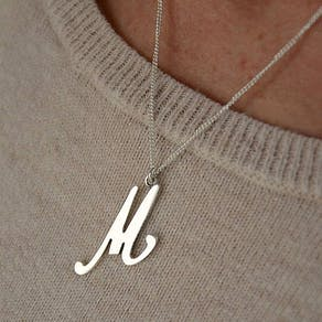Large 14k Gold Initial Necklace