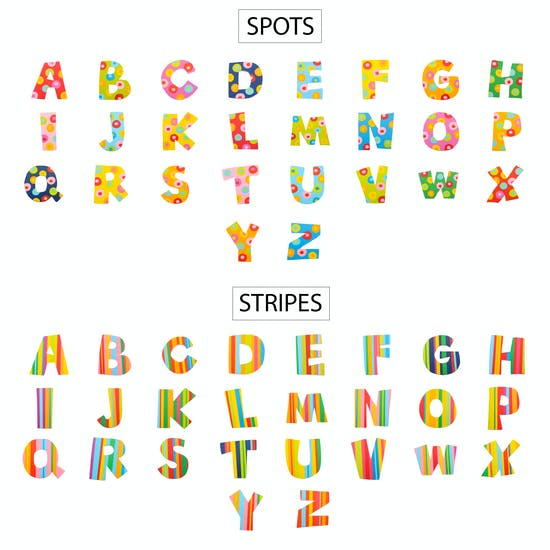 Stripe and Spot Letter Options