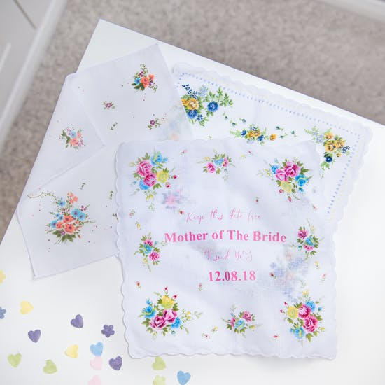 Save The Date Vintage Style Handkerchief