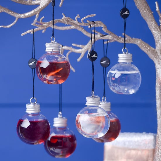 Six Mini Gin Filled Baubles