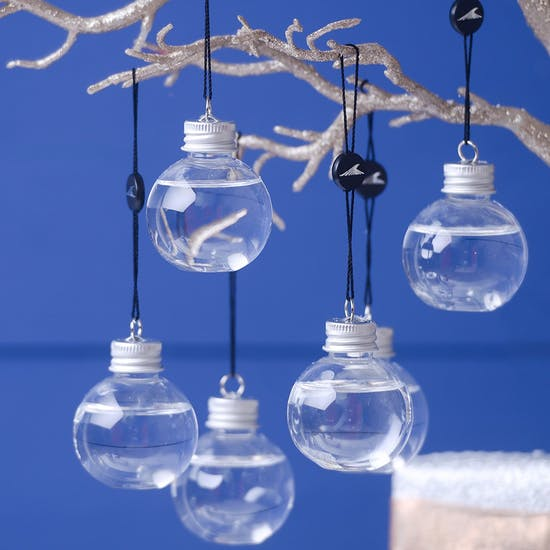 Six Mini Vodka Filled Baubles