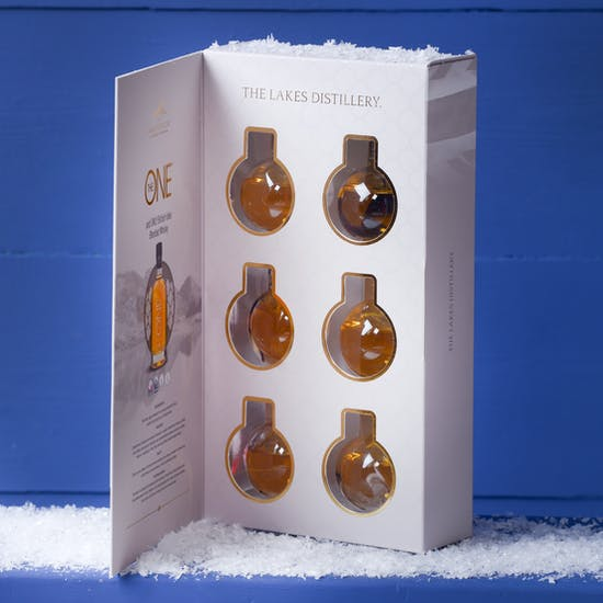 Six Mini Whisky Filled Baubles