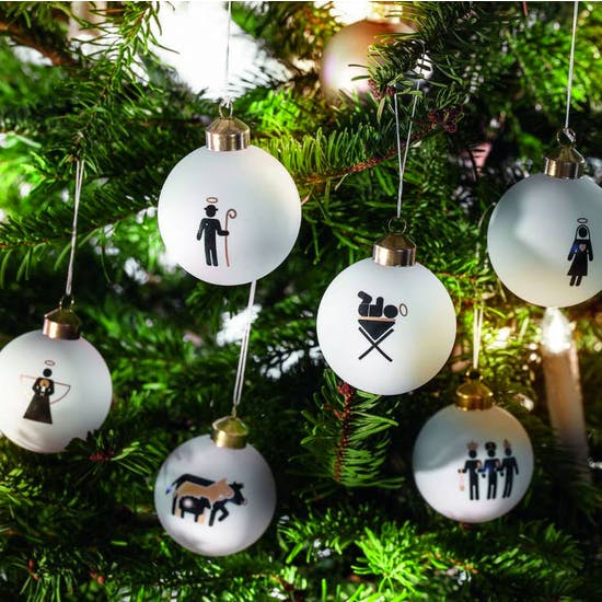 Six Nativty Baubles