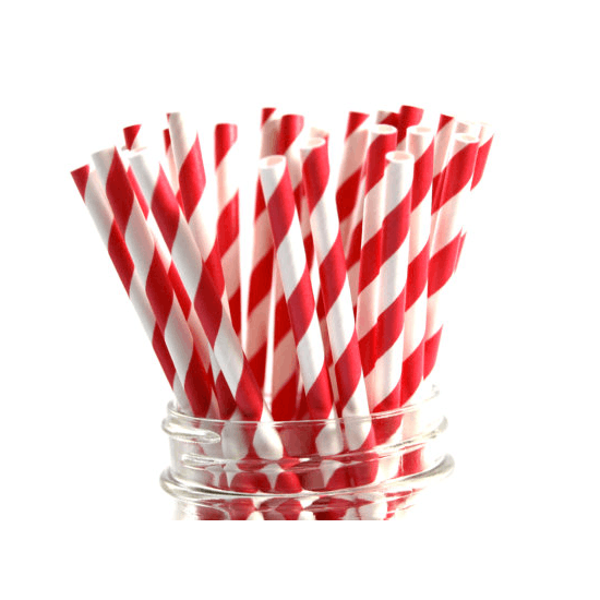 Striped And Gold Star Party Straws