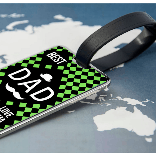 'Best Dad' Luggage Tag