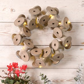 Cotton Bobbin Wreath