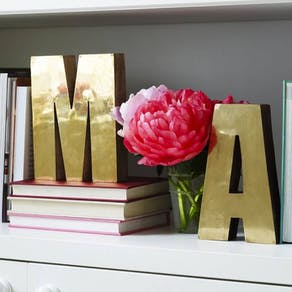 Wood and Brass Freestanding Letters
