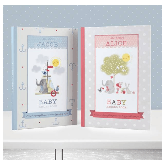 Personalised Gift Boxed Baby Year Book