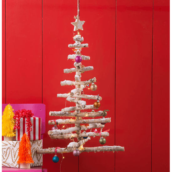 Hanging 3D Real Wood Christmas Tree