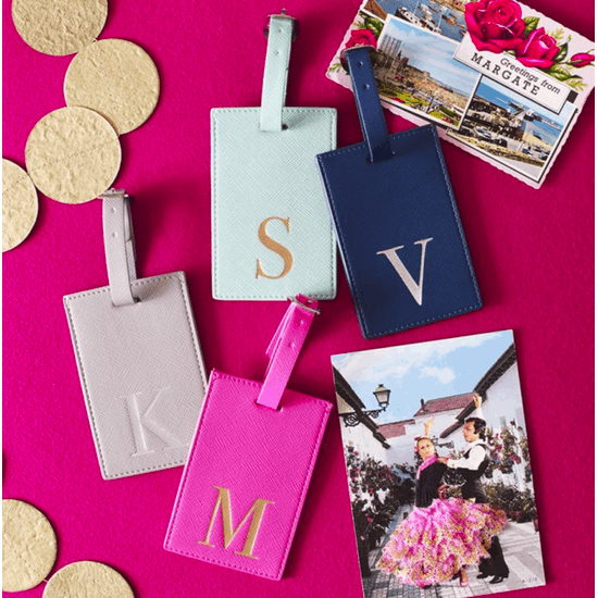 Monogrammed Coloured Luggage Tag