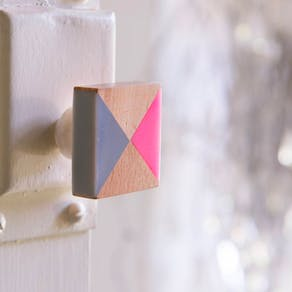 Square Geometric Wood Knob