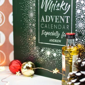 Personalised Luxury Whisky Advent Calendar Box