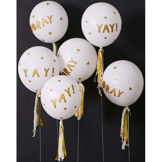 Gold Glitter Balloon Kit