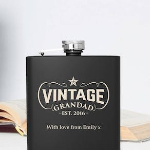 Personalised Grandad Vintage Hip Flask
