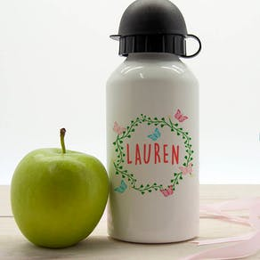 Personalised Butterfly Design Water Bottle