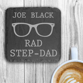 'Rad Step Dad' Slate Coaster