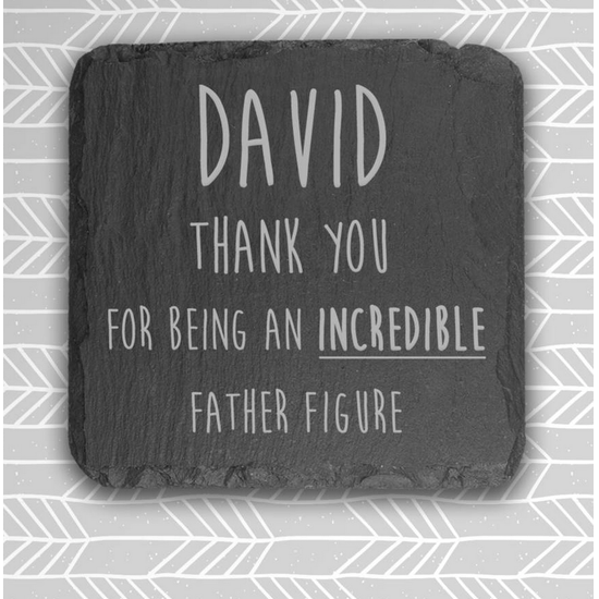 Father Figure Slate Coaster