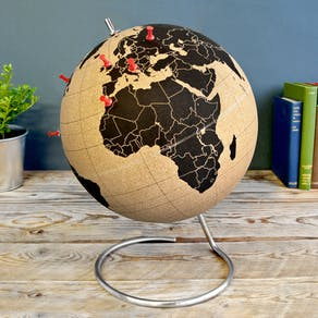 Cork Globe With Pushpins