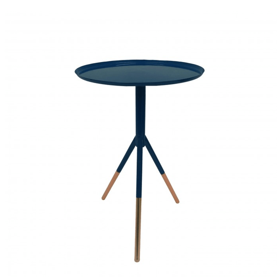 Tripod Table With Copper Feet