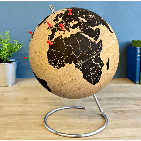 Mini Cork Globe With Pushpins