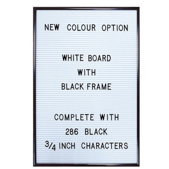 White Peg Board With Black Frame