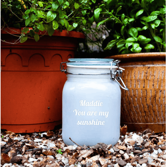 Personalised Pink Sunshine Jar